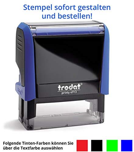 Stempel Trodat Printy 4913 (58x22 mm), für 4 Zeilen, in verschiedenen Farben, gleich Online gestalten!!! (blau)