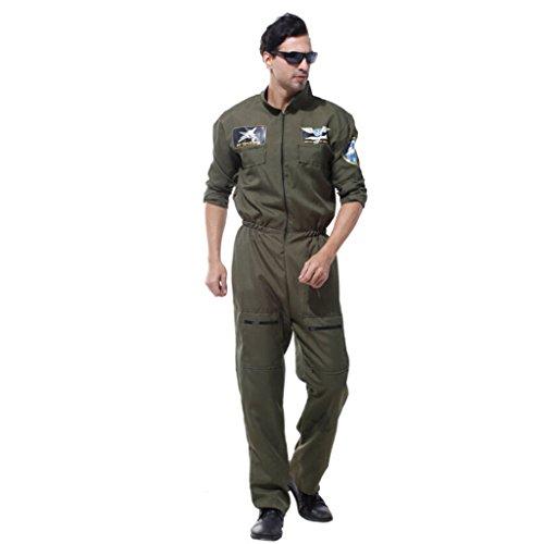 #N/A/a Disfraz de Lujo para Hombre, Militar, Volante, Traje de Salto de La Fuerza area, Fiesta de Halloween
