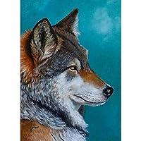 5Dダイヤモンド絵画モザイクDIY動物絵画刺繡ホームウォール40x50cm