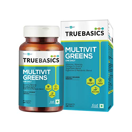 TrueBasics Multivit Greens - All Veg Multivitamin with Natural Extracts, 90 tablet(s) Unflavoured