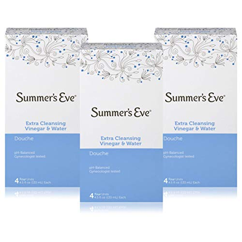 Summer's Eve Extra Cleansing Douche Vinegar & Water 4.5 Ounces Bottles (Pack of 12)