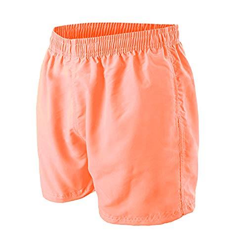 Good Deal Market Badeshort mit Mesh-Einsatz Neon Orange Salmon Gr. XL/8 mit innenliegender Kordel für regulierbaren Bund Swim Shorts Swim Shorts