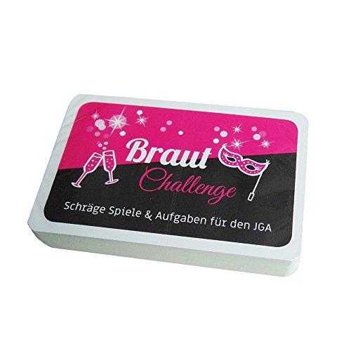 Partybob Braut Challenge - JGA Aufgaben-Karten - Junggesellinnenabschied Spiele