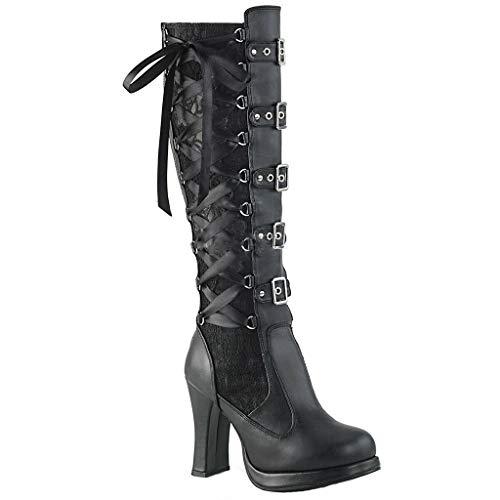 Botas góticas punk rock alternativas de cuero negro. Sin duda las botas relación calidad precio mejores y mas baratas del mercado