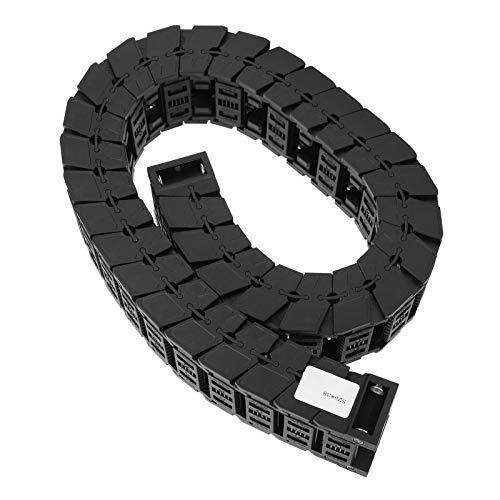 Abnehmbare Baugruppe Nylon 66 Material Kabelschleppkette Silent Serie für professionellen Kabelschutz für CNC-Maschinen(Length 1m, S25*25)