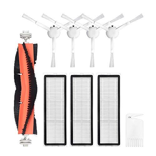 Facibom Lot de 7 accessoires lavables pour aspirateur Dreame F9 - Brosse latérale avec filtre Hepa