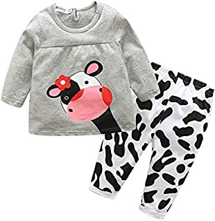 Baby Girl Clothes, Spring and Autumn Baby Newborn 0-3 Months Baby Girl Clothes, Knitted Solid Color Top + Pants Baby Clothes Girl for Wear on The Body Gift Photograph Home Outdoor