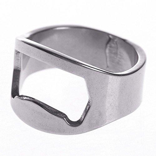 Sacacorchos 1 abridor multifunción de acero inoxidable en forma de anillo único creativo, para hombres, abridor de botellas de cerveza, diámetro de 22 mm