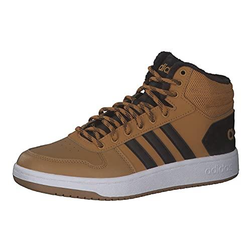 adidas Herren Hoops 2.0 Mid Sneaker, Tisch Negbás Ftwbla, 43 1/3 EU