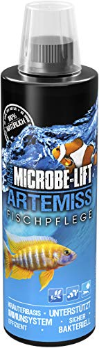 MICROBE-LIFT Artemiss - Kräuterbasierendes Pflegepräparat zur optimalen Unterstützung des Immunsystems bei Fischen in jedem Meerwasser- & Süßwasseraquarium, 473ml