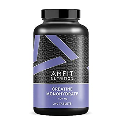Amazon Brand - Amfit Nutrition Creatine Monohydrate 500mg - 240 Tablets