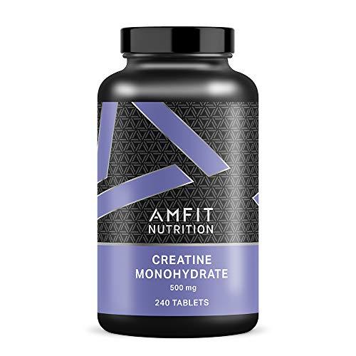 Amazon Brand - Amfit Nutrition Creatine Monohydrate 500mg - 240 Tablets