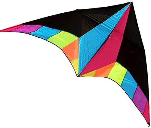 ZHEYANG Drache Kite Drachen Bunter Rainbow Triangle Kite mit Kite Reel und Kite Line,Einfach zu Fliegender Anfängerdrachen für Erwachsene Kinder,Ausgezeichneter Sport Kites Model:G07013(Color:100M L