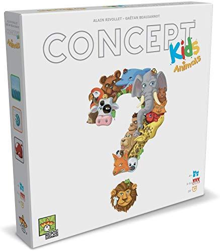 Asmodee - Concept Kids Animales Juego de Mesa para Toda la Familia,...