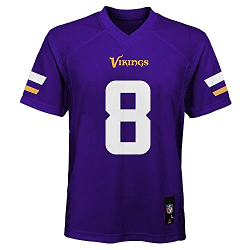 Kirk Cousins Minnesota Vikings NFL Youth 8-20 Purple Home Mid-Tier Jersey (Youth Medium 10-12)