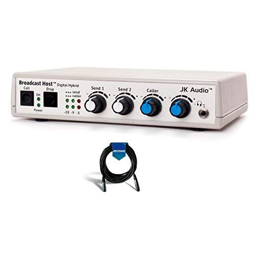 JK Audio Broadcast Host Analog Digital Hybrid Telephone, Audio Line & Mic Desktop Broadcast Station, 200Hz-3600Hz Frequency Response (Telephone Side) - with 15