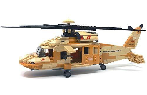 Modbrix - Elicottero Black Hawk, con 562 componenti e 4 Personaggi Soldati