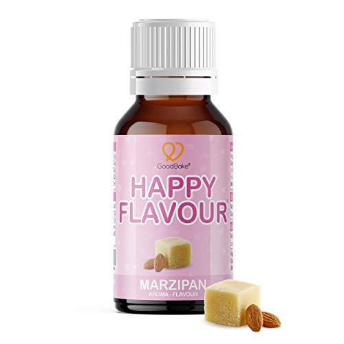 GoodBake Happy Flavour Marzipan 30ml - Aroma - Flavour Drops - Für Getränke, Quark, Joghurt, Desserts, Kuchen - Backaroma
