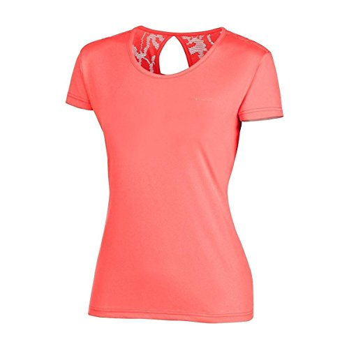 Columbia T-shirt Femme, PEAK TO POINT NOVELTY SHORT SLEEVE, Polyester, Rouge (Groovy Pink), Taille: XL, AK1492