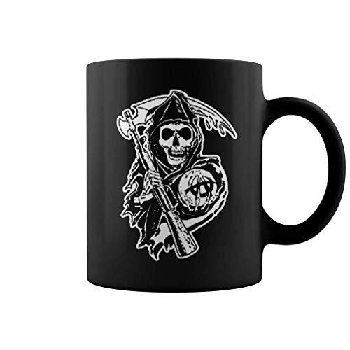 N\A Taza de té o café Taza de café SOA 11 oz Taza de café Divertida de cerámica Negra