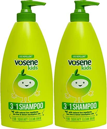 TWO PACKS of Vosene Kids 3 in 1 Conditioning Shampoo Head Lice Repellent...
