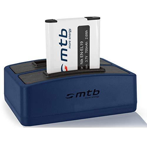 Batería + Cargador Doble (USB) EN-EL19 para Nikon Coolpix S2700, S2800, S2900, S3100,...