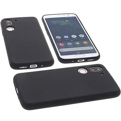 foto-kontor Hülle für Doro 8080 Tasche Silikon TPU Schutz Handytasche schwarz
