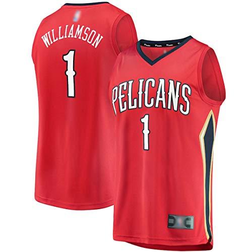 Jersey de baloncesto al aire libre Zion New Orleans NO.1 Rojo, Williamson Pelicans 2019 Draft First Round Pick Fast Break Jersey Sudadera de secado rápido para hombre - Declaración Edición