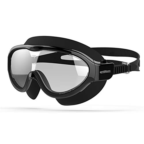 L-yxing Proteger los Ojos Gafas de líquido Profesional Big Frame Anti-Niebla Gafas Ajustables para Hombres Mujeres Agua Deportes Eyewear Lente HD (Color : Transparent Black, Size : Medium)