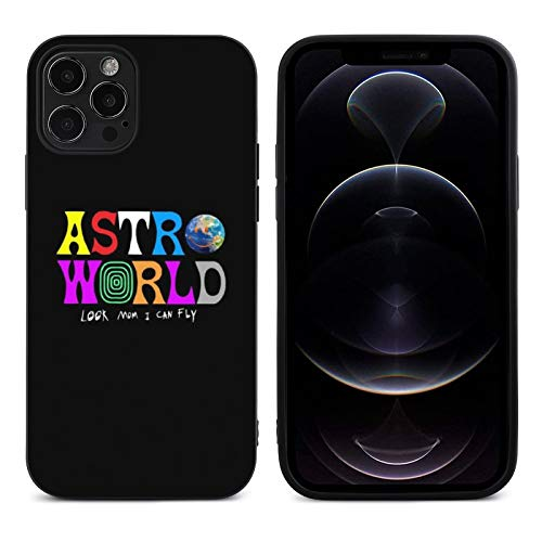 SCO-TT's Astro-World iPhone 12 Case iPhone 12 Pro Case Shockproof TPU Grip Protective Case Rubber Cover for 12/12 pro