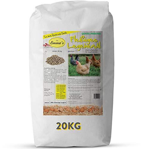 Emmas Hühnerfutter 20kg Fleißiges Legehendl Pellets   Alleinfuttermittel für Legehennen   ohne Gentechnik   hergestellt in Österreich   ausgewogenes Futter für artgerechte Ernährung
