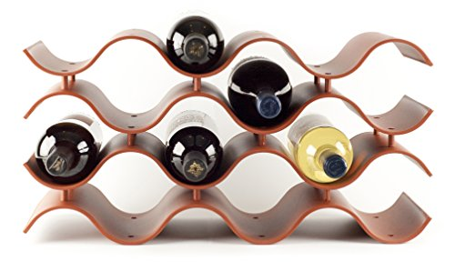 Birando Wave Wine Rack (12Bottle, Terra Cotta)