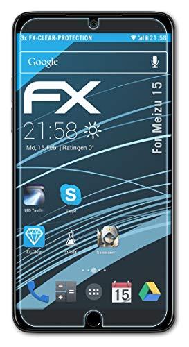 atFolix Schutzfolie kompatibel mit Meizu 15 Folie, ultraklare FX Bildschirmschutzfolie (3X)
