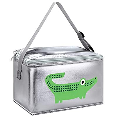 Amazon - 65% Off on Cartoon Thermal Insulated Lunch Bag Cute Lunch Box Silver Reusable