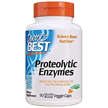 Doctor s Best Proteolytic enzymes Digestion Muscle Joint Non-GMO Gluten Free Vegetarian 90 Veggie Caps