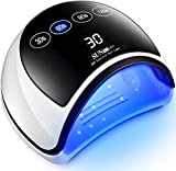 UV LED Lámpara de Uñas Secador Más Rápido Para El Esmalte Gel Con 4 Ajustes Tiempo Sensor Automático y Gran Pantalla Táctil LCD Lámpara Profesional Gel Para El Esmalte Los Dedos Las Manos yLos Pies
