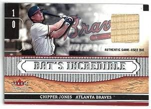 Chipper Jones Atlanta Braves 2002 Fleer Genuine Authentic Game Used Bat Relic Card #10 - Baseball Game Used Cards