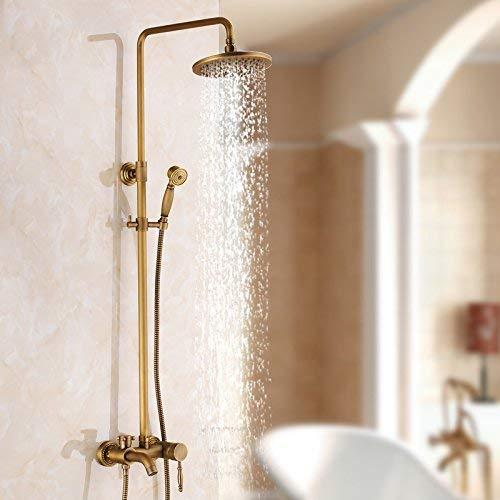 Antieke douche, zwart, voor warme en koude badkamers, koper, compleet, spray, Shower Shower hoeslaken, K Een
