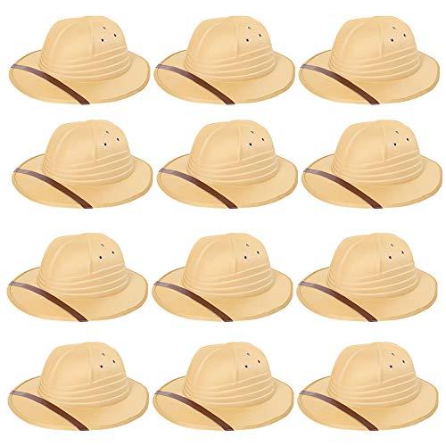 Sombrero de safari para adultos, para hombre y mujer, diseo de cazador, aventurero, accesorio para disfraz de viajero. Tamao: adultos. Tamao del paquete: 6 unidades