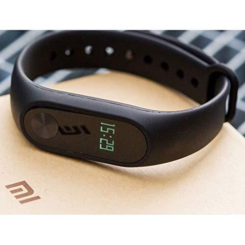 Xiaomi Mi Band 2 Pulsera rastreadora de actividad, con monitor de frecuencia cardíaca OLED; resistente al agua., Negro