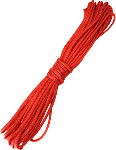 OUTDOOR SAXX® - 10m Paracord Seil, Type III 550, Abspann-Seil, Multifunktions-Leine, 10m, rot