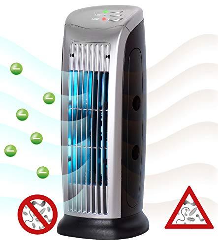 Sichler Haushaltsgeräte Luftionisierer: Luftreiniger mit Ionisator, UV-Licht, Staubfilter und Gebläse, 10 Watt (Luftreiniger Ionen)
