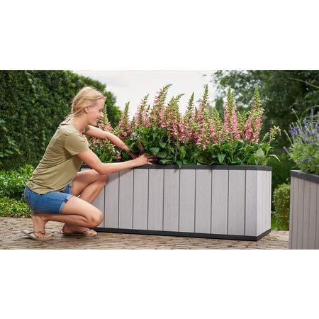 Koll Living Garden Hochbeet Large, grau - 116 Liter - mit praktischen Bewässerungssystem - Duotech Technologie - UV-beständig