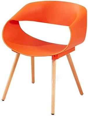 Amazon.com: Sillas de comedor silla de plástico macizo ...
