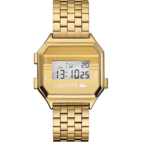 Lacoste Reloj Digital para Hombre de Cuarzo con Correa en Acero Inoxidable 02020138