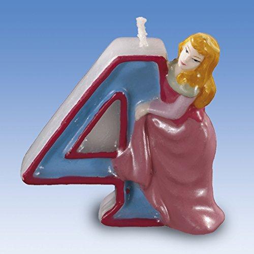 Vela Número 4 Princesas Disney