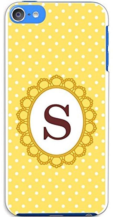 バトル重量時間sslink iPod touch6 アイポッドタッチ6 ハードケース ca1101-s ドットイエロー イニシャル-S スマホ ケース スマートフォン カバー カスタム ジャケット apple
