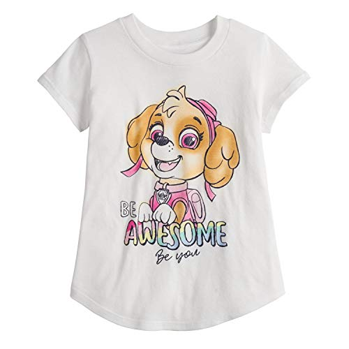 Jumping Beans Little Girls' Toddler 2T-5T PAW Patrol Awesome Tee 4T White