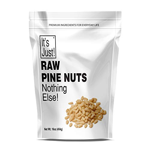 It's Just - Raw Pine Nuts (Pignolias), No PPO, Product of Russia, Ideal for Pesto, Salads, Roasting (16oz)