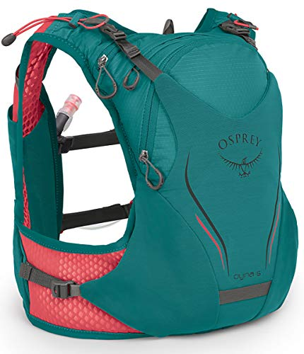 commercial Osprey Pack Dyna 6 Leaf Teal WXS / Women's Hydration Vest rated hydration vests for running